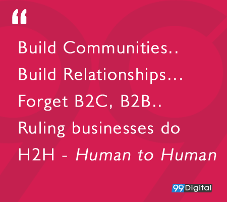 Forget B2B, B2C – Ruling Businesses do H2H!